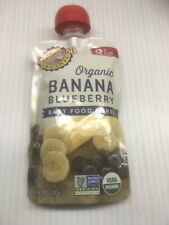 Earth's Best 12 pk of 4 oz Banana Blueberry Stage 2 Baby Food Pouches -Exp 11/20