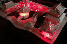 3d Woodcraft Puzzle Chinese house (Suzhou Gardens) Model with 12 red Light