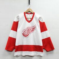 Vintage Detroit Red Wings CCM Maska Jersey Size Small White NHL Stitched 90s