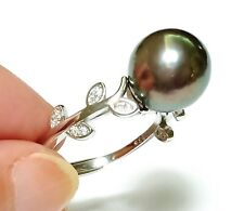 Gorgeous Edison Round Cultured 10.5 - 11mm Natural Colors Pearl Ring Size 7 - 8