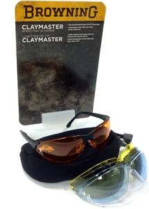 Browning Claymaster Clay Pigeon Shooting Glasses Set
