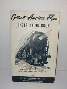 1954 GILBERT AMERICAN FLYER INSTRUCTION BOOK ORIGINAL FAIR