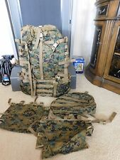 USMC ILBE MARPAT MAIN PACK FIELD BACKPACK (BODY ONLY)w/ LID, 2 RADIO POUCH NEW