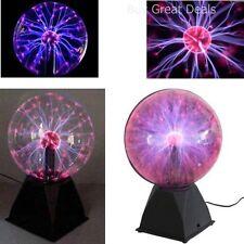 "Nebula Plasma Ball Lamp Touch Sensitive Lighting Disco Party Light Globe 8"" NEW"