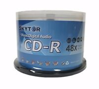 50 SKYTOR Blank 48X Audio Digital Music CD-R 80min Branded Logo Disc Spindle