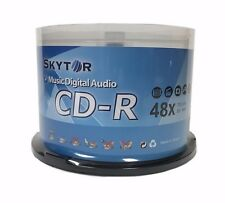 50 SKYTOR Blank 48X Audio Digital Music CD-R 80min Branded Logo Disc Spindle