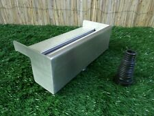 300mm Stainless Steel Waterfall WATER BLADE Cascade Koi Fish Pond  BOTTOM INLET