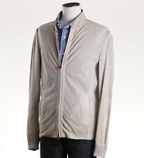 NWT $8595 KITON Ivory Perforated Lambskin Suede Leather Racer Jacket M (Eu 48)