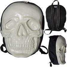 Kreepsville 666 White Glow In the Dark Latex Skull Backpack Bag Goth Punk Biker