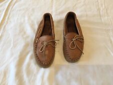 Minnetonka Moccasin Driving Moc Loafers Size 8.5 Tan leather