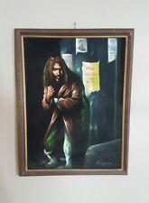Jethro Tull 1971 Aqualung Album Cover Original Art Vintage Painting on Velvet