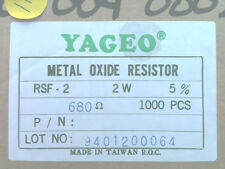680 Ohm 5% 2W Metal Oxide Film Resistor Box of 1000
