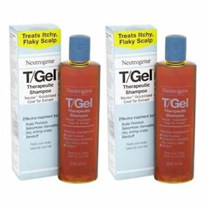 2 x 250ml Neutrogena T/Gel Therapeutic Shampoo Tgel T Gel