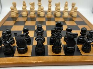 CHESS SET  WOODEN BY PAVILION 28 cm sq board
