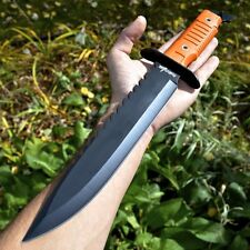 """16"""" Hunting Survival Combat Tactical Fixed Blade Knife w/ Sheath Machete Bowie"""