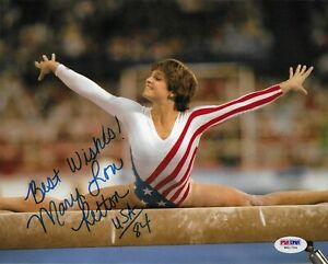 Mary Lou Retton Signed 8x10 Photo PSA/DNA Autographed Olympic Gold Gymnastics 4