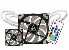 AVP Spectrum RGB LED 2x120mm Fan Kit With 2x LED Strips and Remote Control