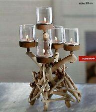 Teelichthalter Treibholz NEU tolle Optik Kerzenhalter Kerzenständer