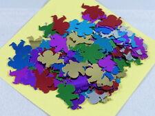 100 Weihnachtsmänner Streuelemente  Streudeko  Basteln Multicolor ca.18mm