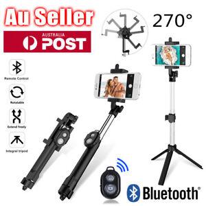 Unipod Selfie Stick Handheld Tripod Bluetooth Shutter For Samsung S21 iPhone 12