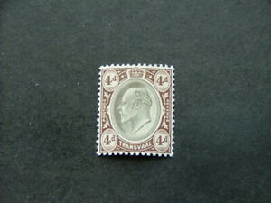 Transvaal KEVII 1902 4d black & brown SG249 UM/MNH