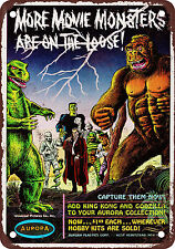 """7"""" x 10"""" Metal Sign - 1964 Movie Monsters on the Loose - Vintage Look Reproducti"""