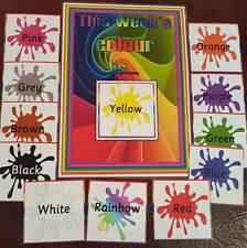 This weeks colour is...Display communication- EYFS- childminder- Nursery- SEN
