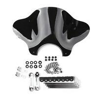 Motorcycle Cruiser Windschutzscheibe Windschild with Mounting kit Smoke BS7