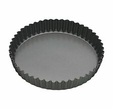 Master Class 10 Inch / 25cm Professional Non Stick Fluted Quiche Tart Flan Tin