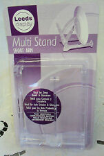 Short arm multi display stand (clear) ideal for deep bowls & glassware