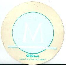 Autocollant sticker MADRID 1992 vert