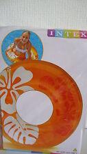 Großer Schwimmreifen--91 cm--gelb/orange--INTEX--XXL Schwimmring--Badespass