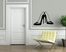 Wall Stickers Vinyl Decal Pair of Stilettos Hot High Heel Shoes Fashion EM564