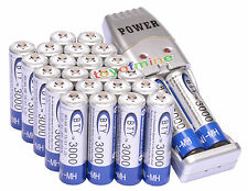 24x AA 3000mAh 1.2 V Ni-MH rechargeable battery BTY for MP3 RC Toys + Charger