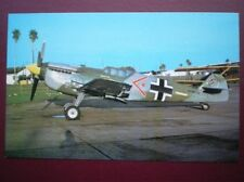 POSTCARD AIR HISPANO HA-112-MIL SPAINSH VERSION OF THE ME 109 AEROPLANE