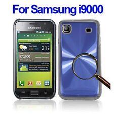 Coque bleu aluminium / plastique crystalisé haute qualité Samsung Galaxy S i9000