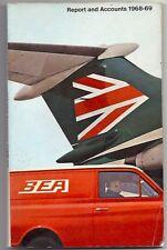 BEA ANNUAL REPORT 1968/69 BAC1-11 TRIDENT BRITISH EUROPEAN AIRWAYS B.E.A.