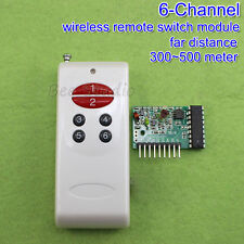 DC 5v 6-Channel Receiver Wireless Remote far distance RF Control Switch Module