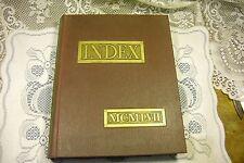 1957 University of Massachusetts Amherst MA Yearbook Index