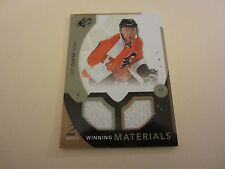 Jeff Carter 2010-11 SPx Winning Materials #WMJC Dual Jersey Relic NHL Flyers