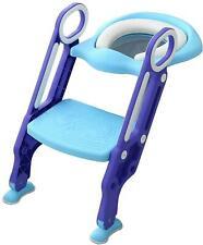 Children Toilet Seat & Ladder Toddler Toilet Training Seat Ladder Blue & Purple
