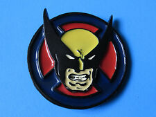 THE WOLVERINE 3D Raised Belt Buckle - Marvel Comics X-Men Blue Yellow Red Black