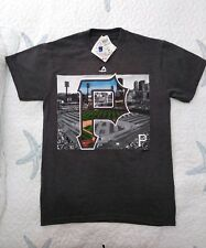 Majestic Mens S Pittsburgh Pirates PNC Park Gray Short Sleeve Graphic T-Shirt