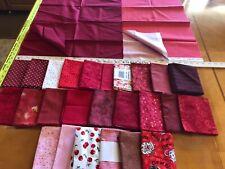 Lot 25 Fat Quarters & 2 pieces Fabric Reds