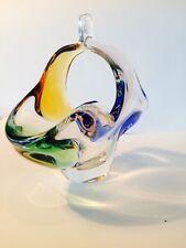 Wunderschöner Mid Century Glasschale, Tafelaufsatz, Murano?  Mundgeblasen, ART!