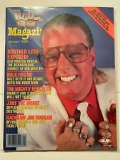WWF Magazine 1989 January Brother Love Exposed! Scandalous Source of Wealth WWE