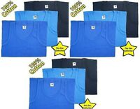 3 X MENS MENS VEST 100% COTTON GYM ATHLETIC TANK TOP  TRAINING VEST 3XL-4XL- 5xl