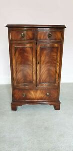 Bevan Funnell Flame Mahogany Serpentine Hi-Fi Cabinet *See Delivery Option*