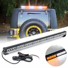 640W 36inch 32 LED Flash Strobe Light Bar White Amber Traffic Advisor Work Kit