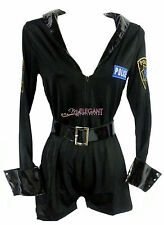Women Police Cop SWAP Romper Suit Uniform Costume Halloween Outfit Dress Set